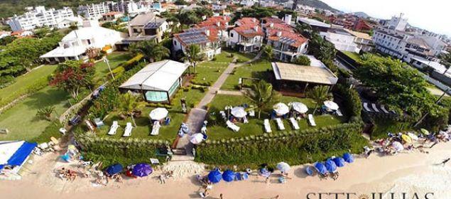 Fachada do hotel Sete Ilhas