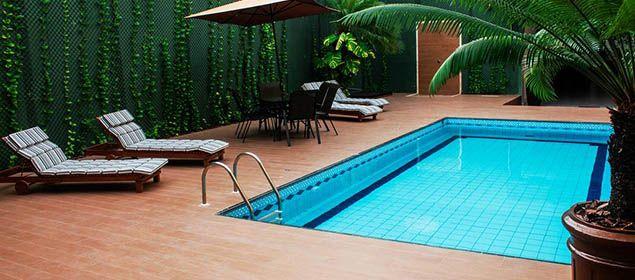 fachada da piscina Pauli Hotel