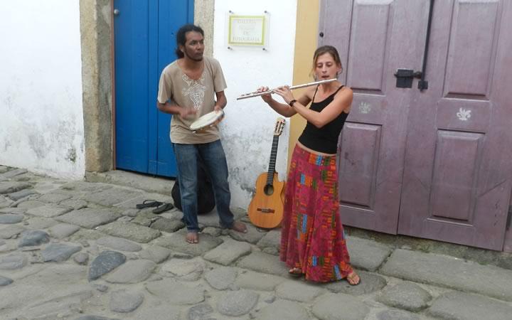Artistas de Rua em Paraty