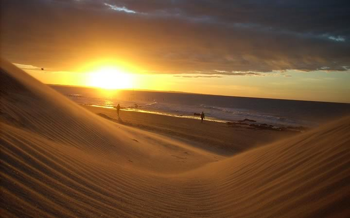 Duna do pôr do sol em Jericoacoara