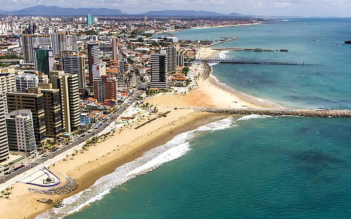 Praia em Fortaleza