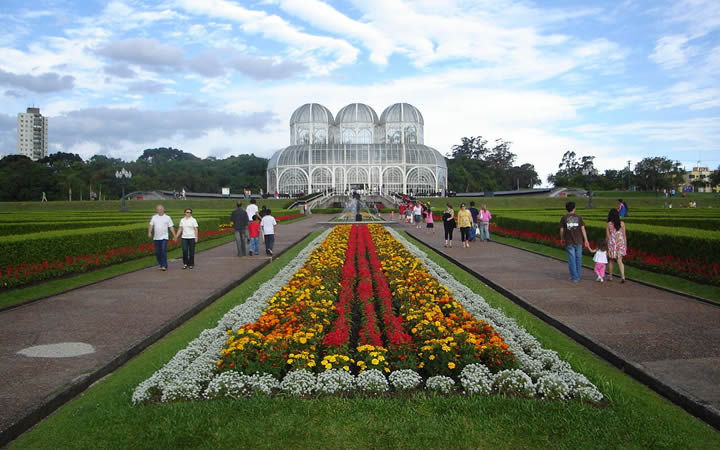 Jardim botânico em Curitiba no Paraná
