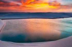 Lagoa Azul em lençóis Maranhenses
