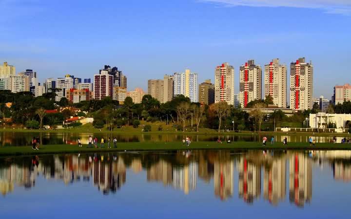 Parque barigui em Curitiba no Paraná