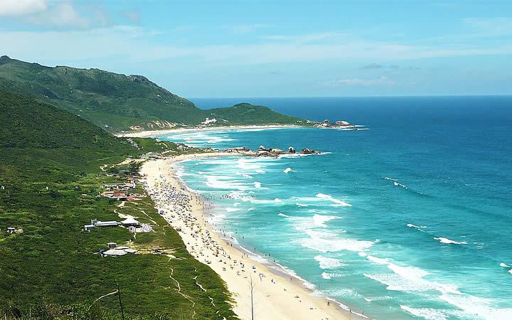 Praia Mole Vista do Morro do Gravatá - Florianópolis