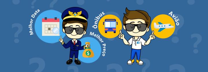 Compare o preço entre Passagem de Ônibus e Passagem de Avião. Encontre Passagem Aérea Barata na melhor data para viajar.