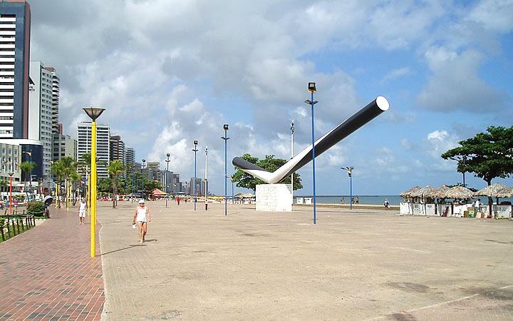Calçadão da Avenida Beira Mar - Fortaleza