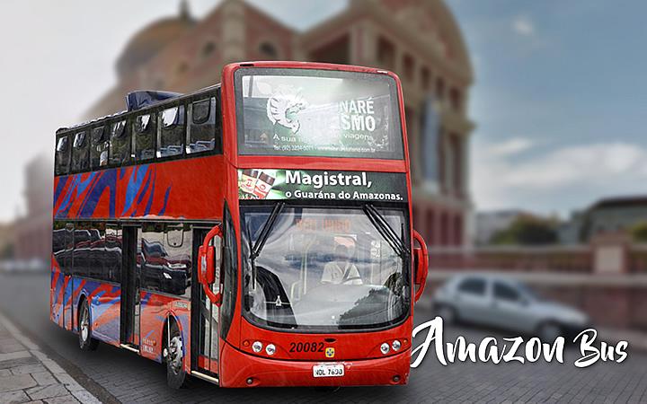 Ônibus de tour em Manaus