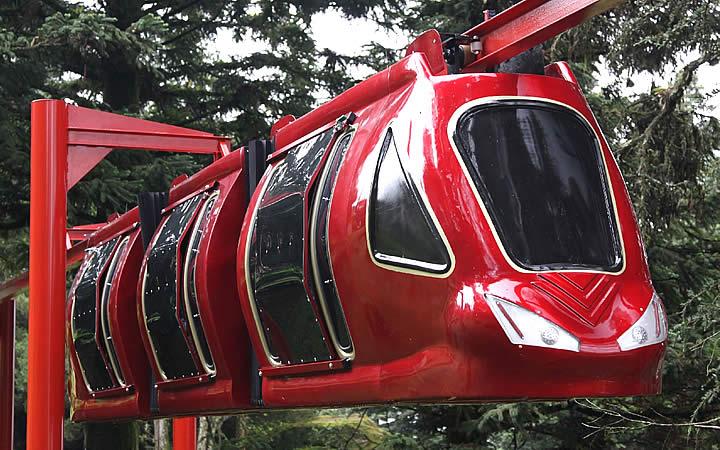 Passeio de monorail - Aldeia do Papai Noel
