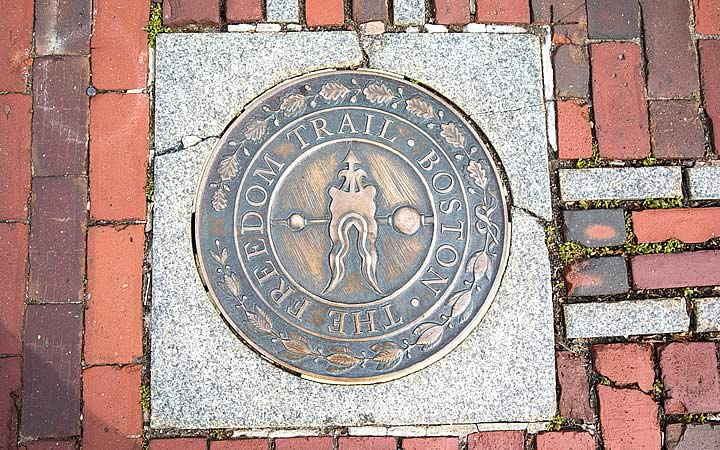 Placa de Freedom Trail