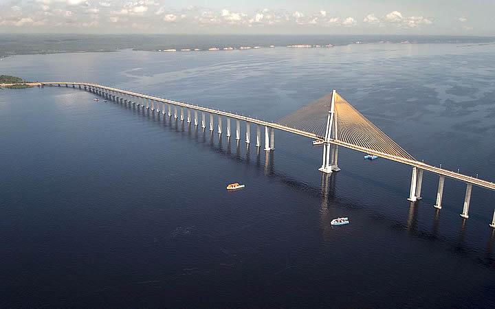 Ponte sobre o Rio Negro - Manaus