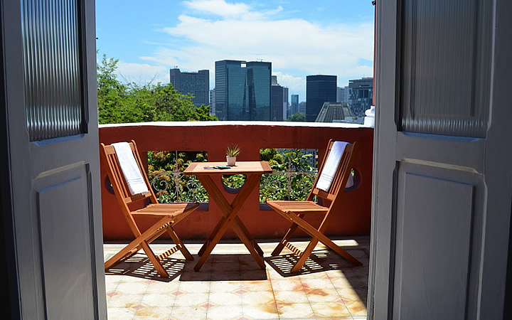 Bossa in Rio Hostel - Vista da janela do quarto