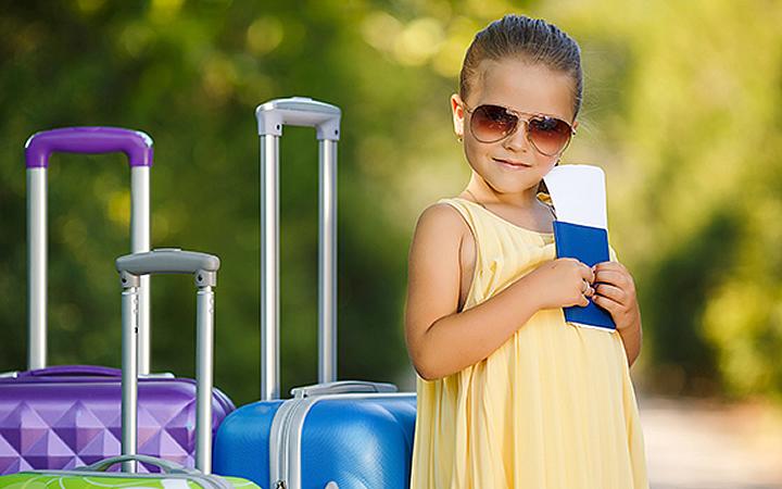 Documentação das crianças para viajar