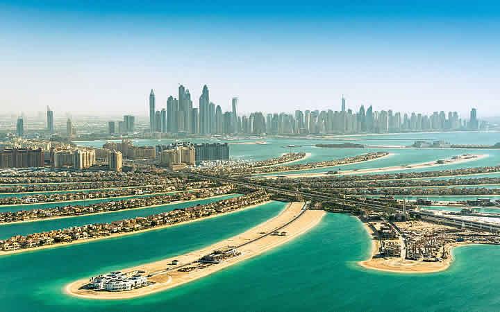 Ilhas artificiais em Dubai