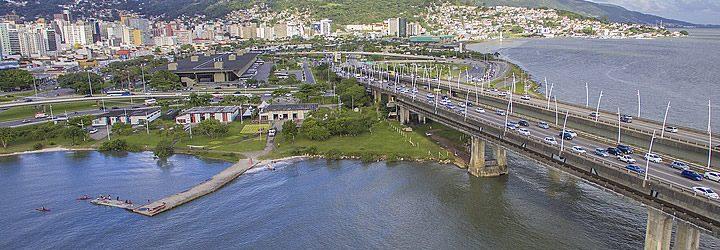 Florianópolis - visão superfícial da ponte
