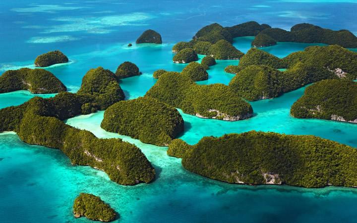 Ilhas em Galápos