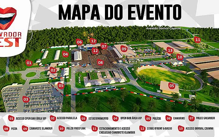 Mapa do evento SalvadorFest
