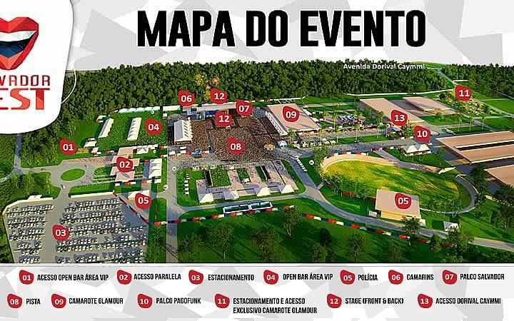 Mapa do evento SalvadorFest
