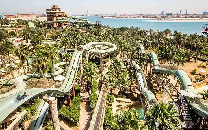 Parques aquáticos em Dubai