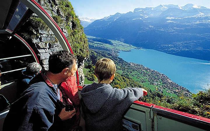Passeio de Pai e filho na Suiça
