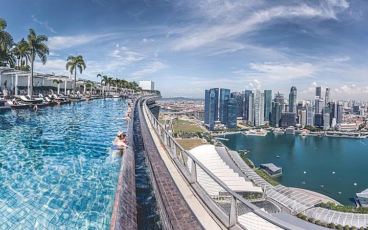 Piscina de Borda infinita em Singapura
