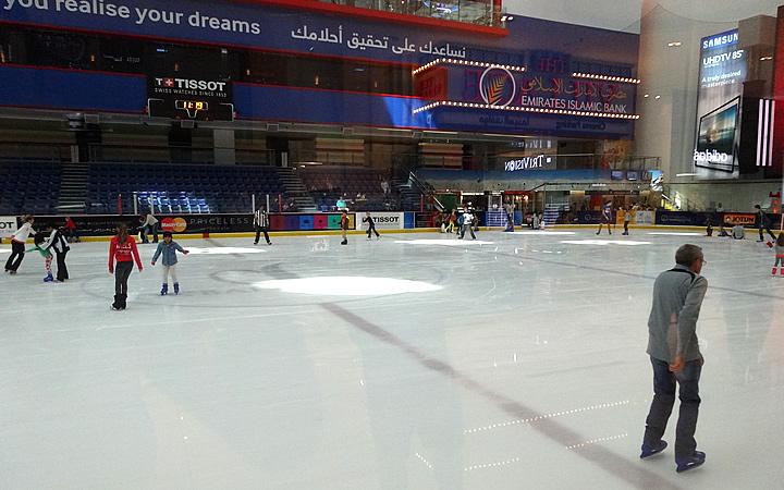 Pista de patinação em Dubai