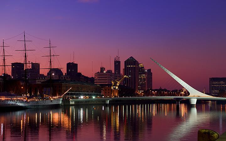 Vista panorâmica do skyline de Buenos Aires