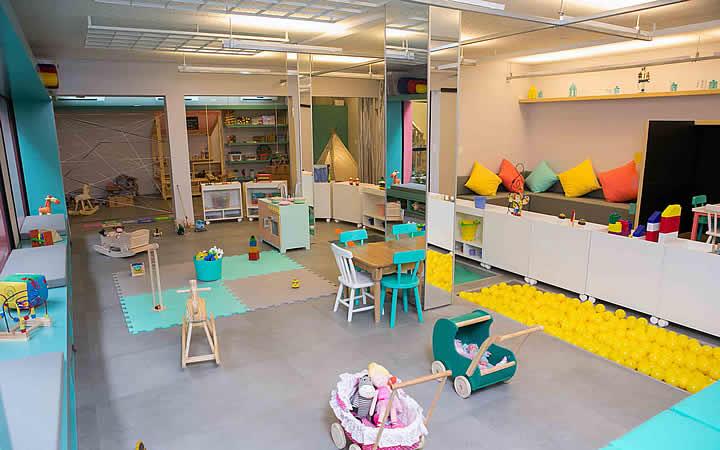 Área de lazer para bebês e crianças