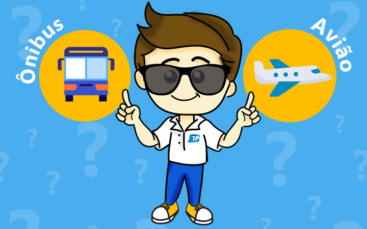 Mascote Transportal - Vai ônibus ou aviao?