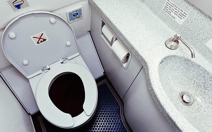 Banheiro do avião