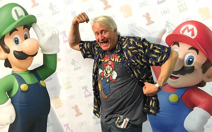 Charles Martinet, do Mario - Convidado especial para o BGS
