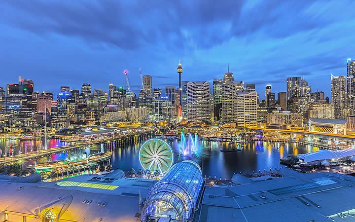Darling Harbour em Sydney
