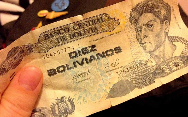 Dinheiro Bolíviano - Diez Bolivianos