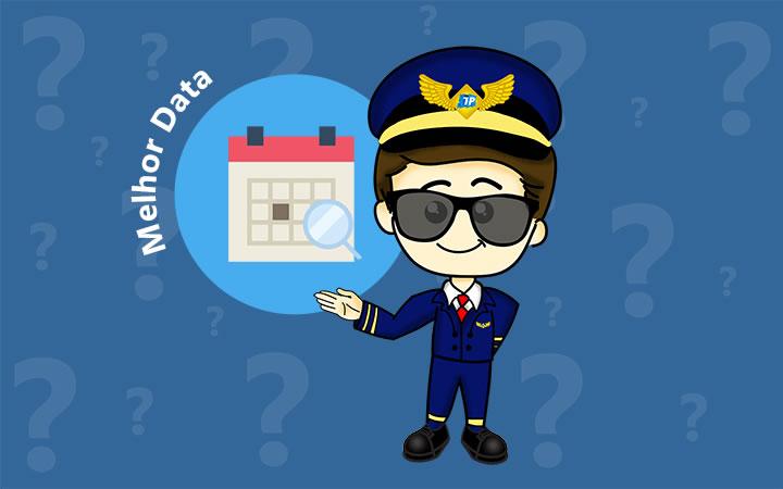 Melhor data para viajar de avião - Transportal