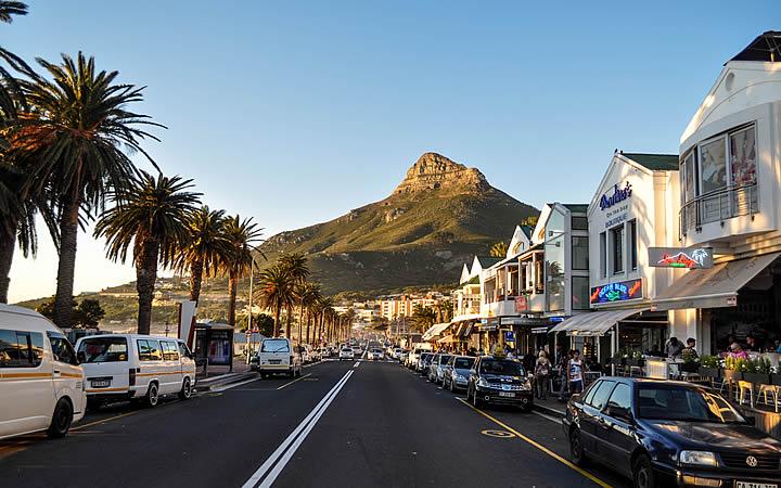 Orla de Camps Bay em Cidade do Cabo - Africa do sul