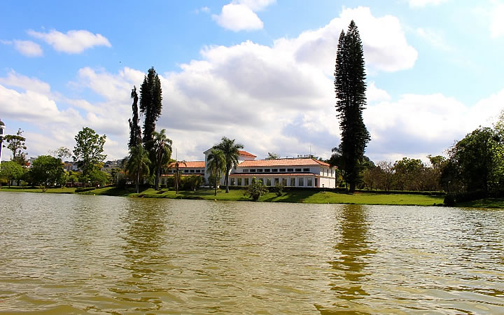 Parque das águas em São Lourenço