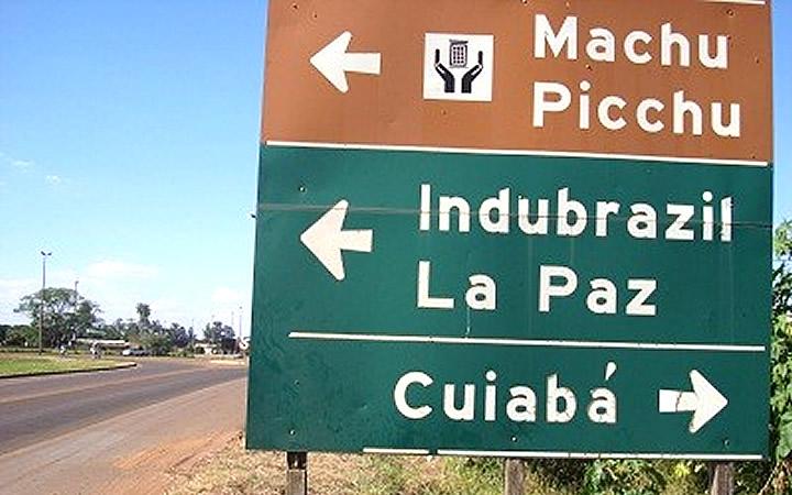 Placa de Machu Picchu em Campo Grande MS