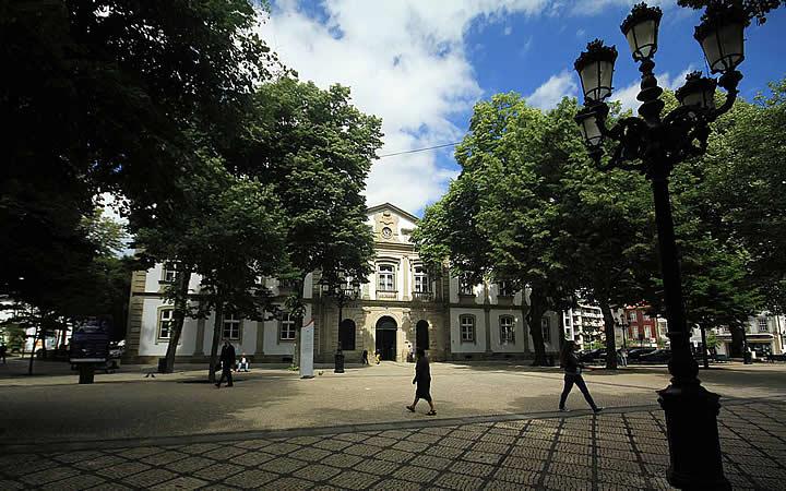 Praça da república - Viseu em Portugal