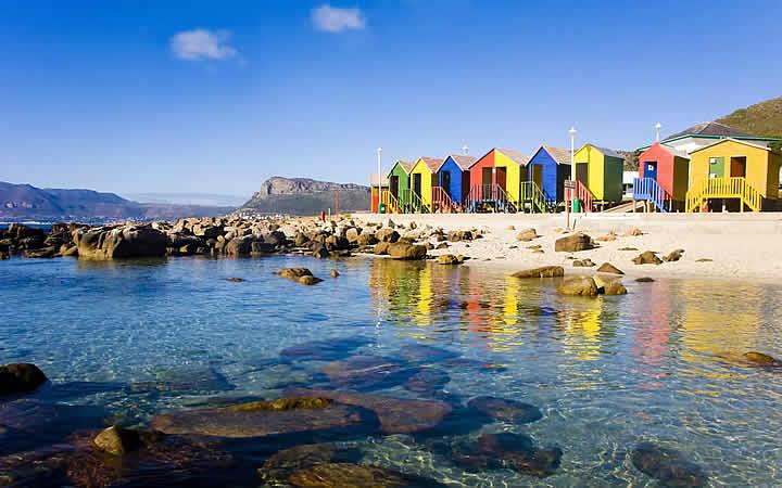 Praia St James Cidade do Cabo em África do Sul