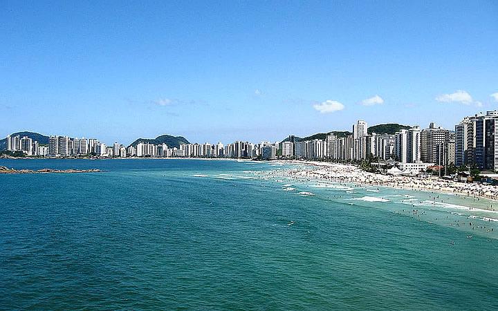 Praia de Pitangueiras em Guarujá