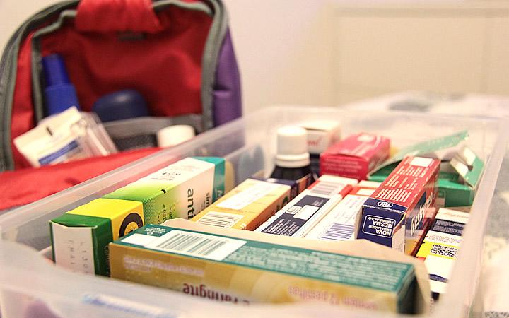 Remédios para viagem
