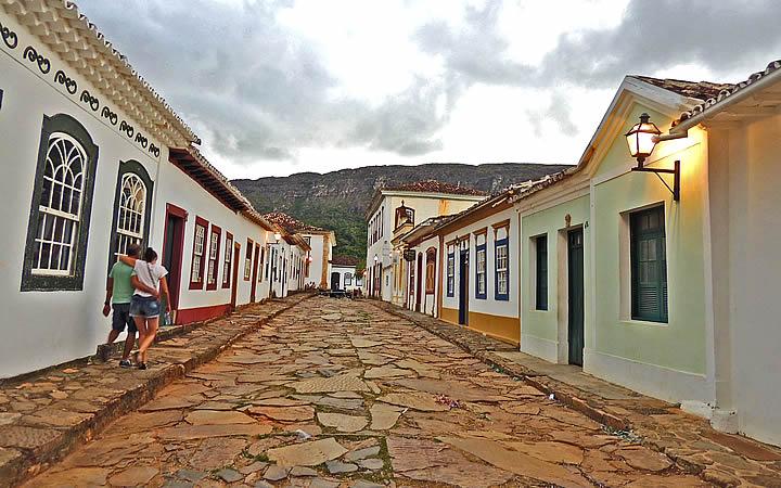 Rua Direta em Tiradentes - MG
