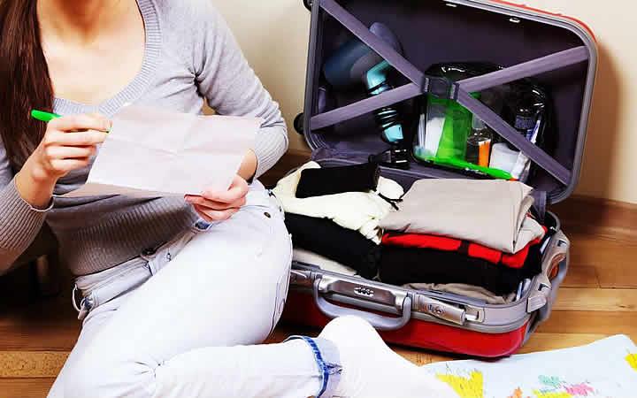 Tempo da viagem definido - Arrumando a mala para viajar
