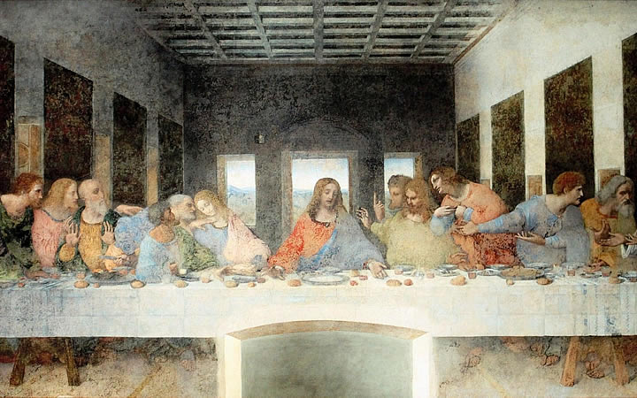 Última Ceia - Pintura de Leonardo da Vinci