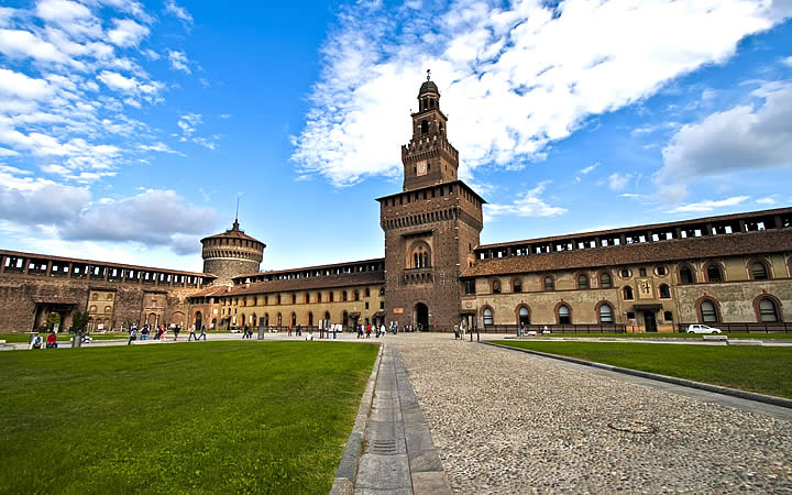 Castelo Sforzesco em Milão