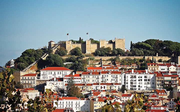 Castelo de São Jorge em Portugal