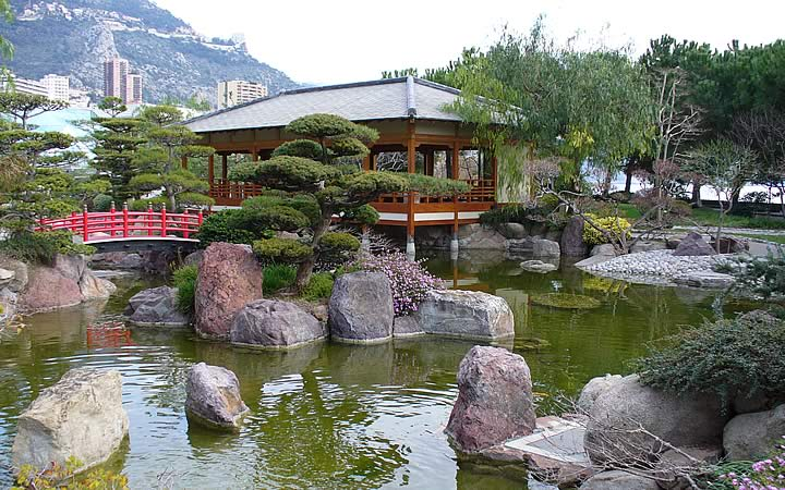 Jardim Japonês em Mônaco