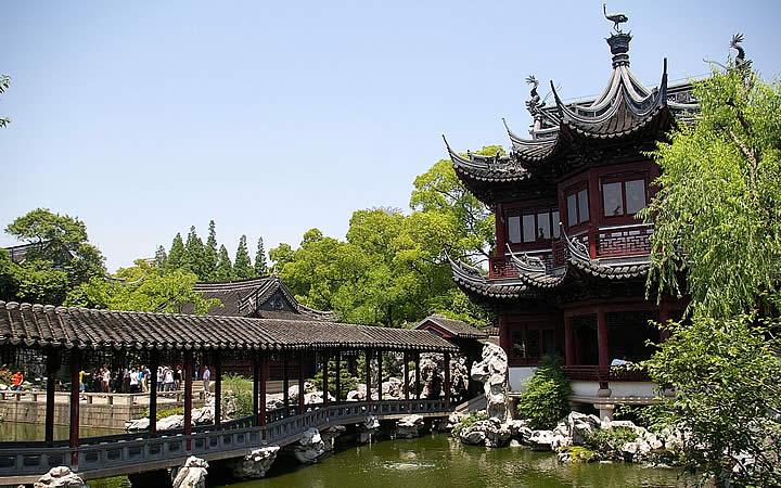 Jardim Yuyuan em Xangai