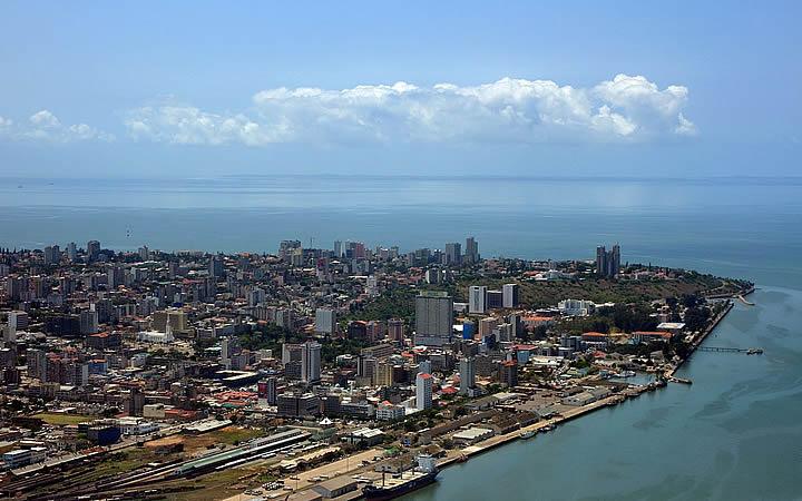 Maputo - Visão aérea da cidade