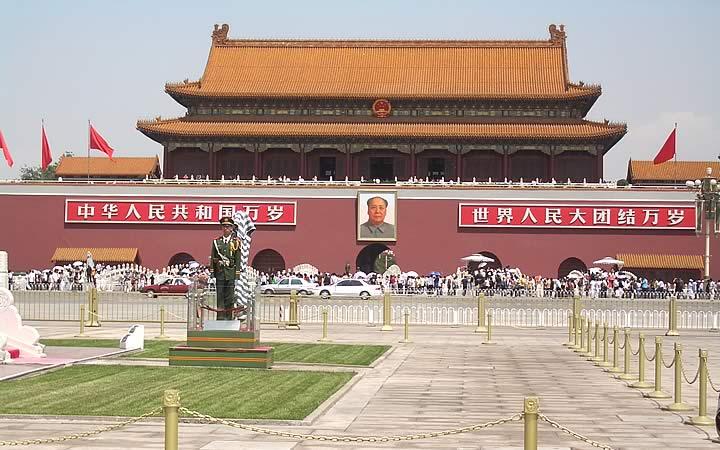 Mausoléu de Mao Tsé Tung - Praça Celestial em Pequim